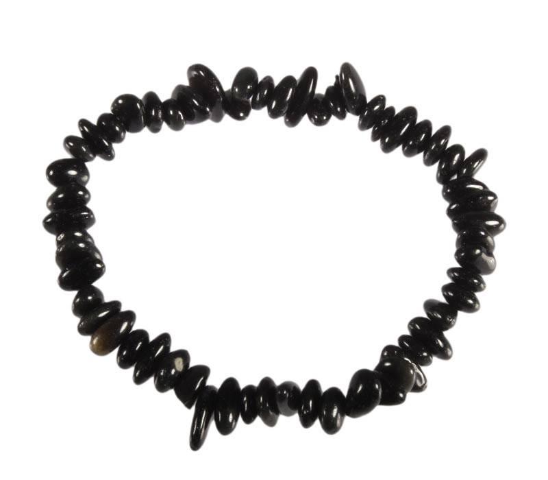 Obsidiaan (zwart) armband split