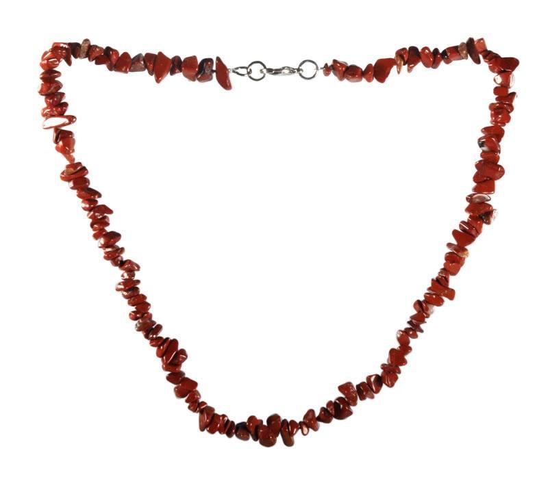Jaspis (rood) ketting split