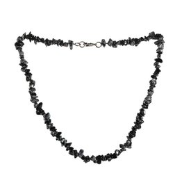 Obsidiaan (sneeuwvlok) ketting split