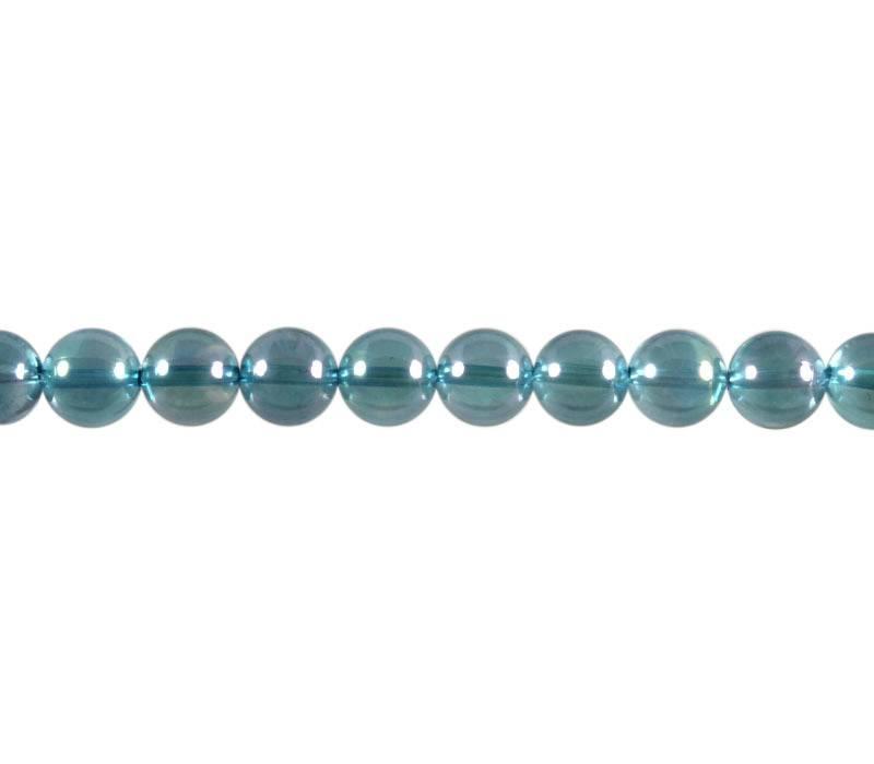 Aqua aura kraal rond 12 mm (per stuk)