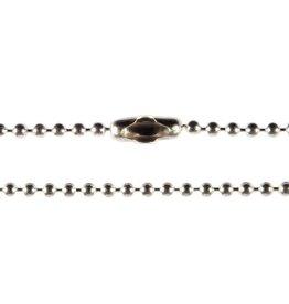 Zilveren ketting bolletjes 35 cm 2 mm