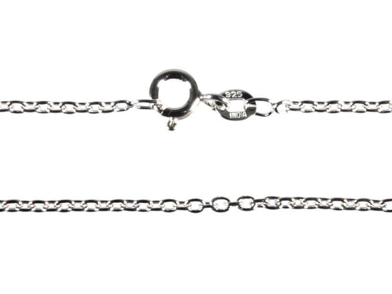 Zilveren ketting kabel 60 cm