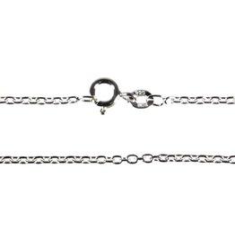 Zilveren ketting kabel 90 cm