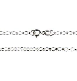 Zilveren ketting rolo 40 cm