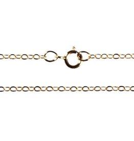Gold filled ketting kabel plat 45 cm