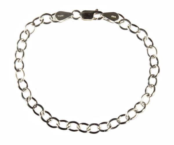 Zilveren armband schakels klein ovaal