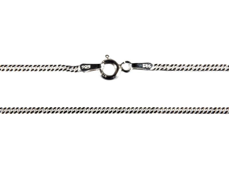 Zilveren ketting gourmet 40 cm