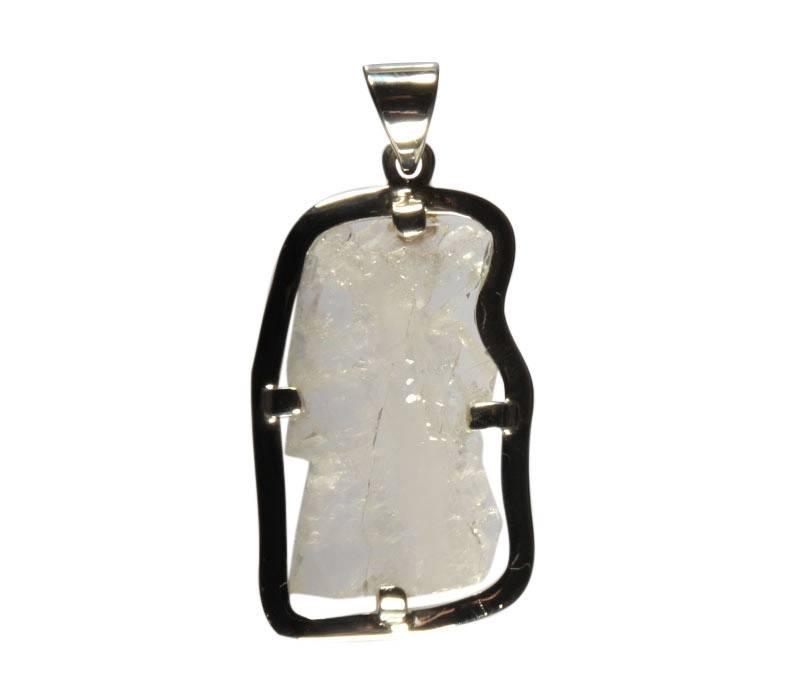 Zilveren hanger fadenkwarts gezet 3,3 x 1,8 cm