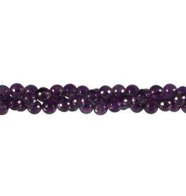 Amethist kralen rond facet 6 mm (streng van 40 cm)