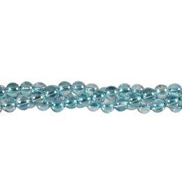 Aqua aura kralen rond 6 mm (streng van 40 cm)