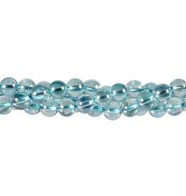 Aqua aura kwarts kralen rond 8 mm (streng van 40 cm)
