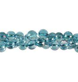Aqua aura kwarts kralen rond facet 8 mm (streng van 40 cm)