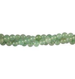 Aventurijn (groen) kralen rond 6 mm (streng van 40 cm)