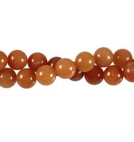 Aventurijn (rood) kralen rond 10 mm (streng van 40 cm)