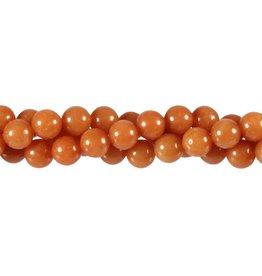 Aventurijn (rood) kralen rond 8 mm (streng van 40 cm)