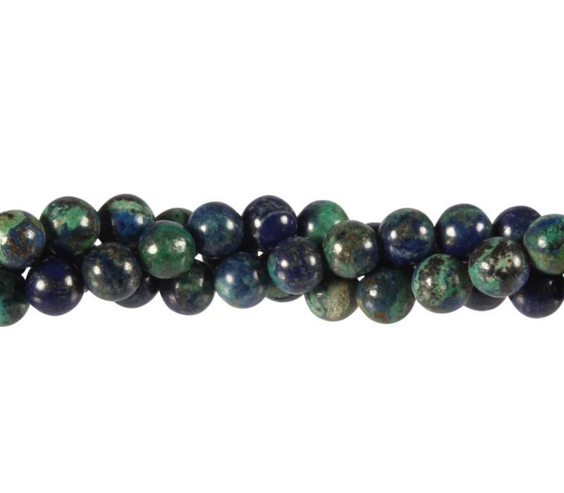 Azuriet-malachiet kralen rond 8 mm (streng van 40 cm)