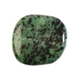 Zoisiet steen plat gepolijst
