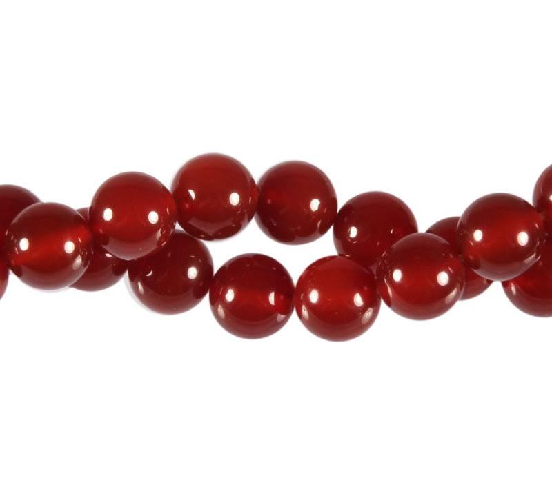 Carneool kralen rond 10 mm (streng van 40 cm)