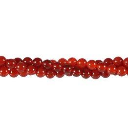Carneool kralen rond 6 mm (streng van 40 cm)
