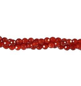 Carneool kralen rond facet 6 mm (streng van 40 cm)