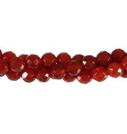 Carneool kralen rond facet 8 mm (streng van 40 cm)