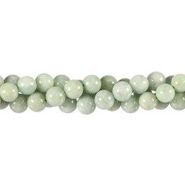 Jade (jadeiet) effen groen kralen rond 8 mm (streng van 40 cm)