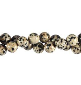 Jaspis (dalmatier) kralen rond 10 mm (streng van 40 cm)