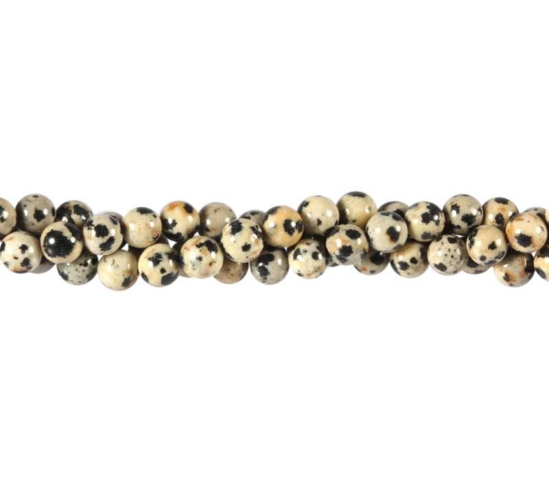 Jaspis (dalmatier) kralen rond 6 mm (streng van 40 cm)