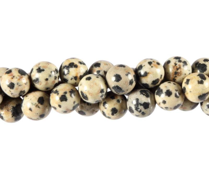 Jaspis (dalmatier) kralen rond 8 mm (streng van 40 cm)