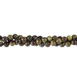 Jaspis (drakenbloed) kralen rond 6 mm (streng van 40 cm)