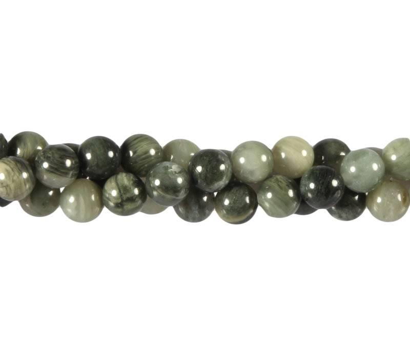 Jaspis (groen) kralen rond 8 mm (streng van 40 cm)