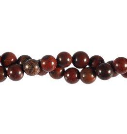 Jaspis (breccie) kralen rond 10 mm (streng van 40 cm)
