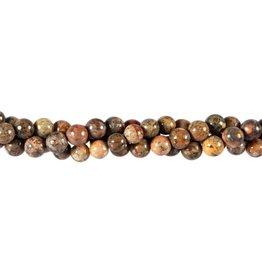 Jaspis (luipaard) kralen rond 6 mm (streng van 40 cm)