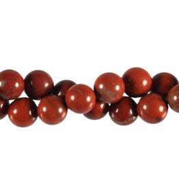 Jaspis (rood) kralen rond 12 mm (streng van 40 cm)