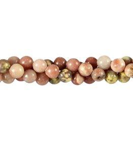 Lepidoliet (roze) kralen rond 8 mm (streng van 40 cm)
