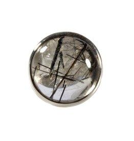 Zilveren ring toermalijnkwarts maat 18 3/4 | rond 1,8 cm