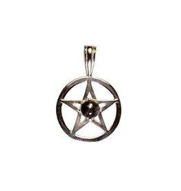 Zilveren hanger healer's gold pentagram (bescherming)