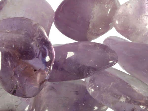 Amethist steen licht getrommeld 10 - 20 gram