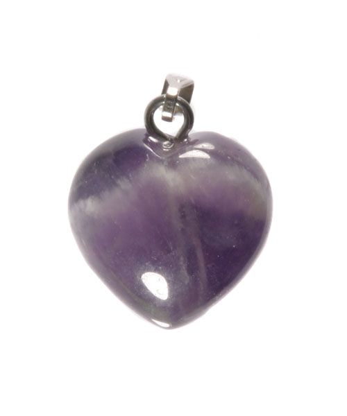 Amethistkwarts hanger hart 15 mm