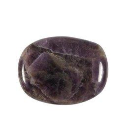 Amethistkwarts steen plat gepolijst