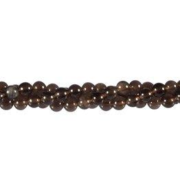Obsidiaan (apachetranen) kralen rond 6 mm (streng van 40 cm)