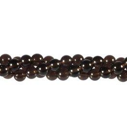Obsidiaan (apachetranen) kralen rond 8 mm (streng van 40 cm)