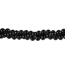 Obsidiaan (zwart) kralen rond 6 mm (streng van 40 cm)