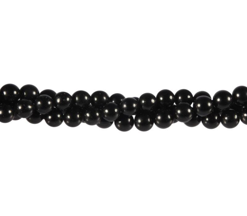 Zwarte obsidiaan kralen