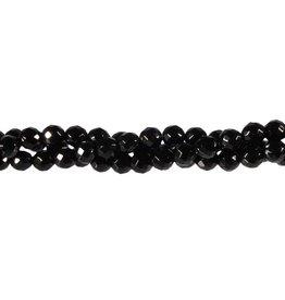 Onyx kralen rond facet 6 mm (streng van 40 cm)