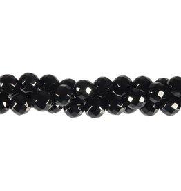 Onyx kralen rond facet 8 mm (streng van 40 cm)