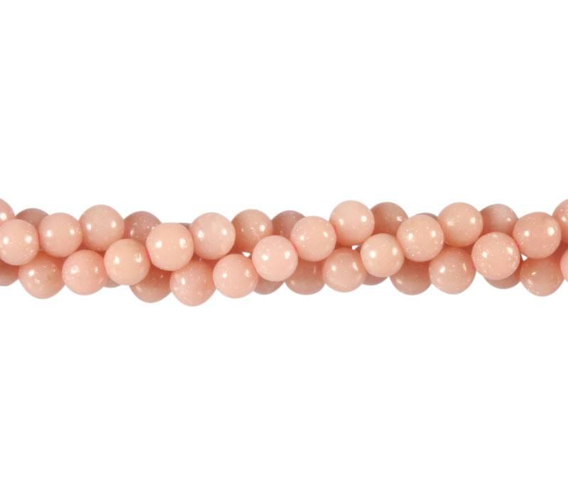 Opaal (Andes) roze kralen rond 6 mm (streng van 40 cm)