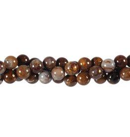 Pietersiet kralen rond 8 mm (streng van 40 cm)