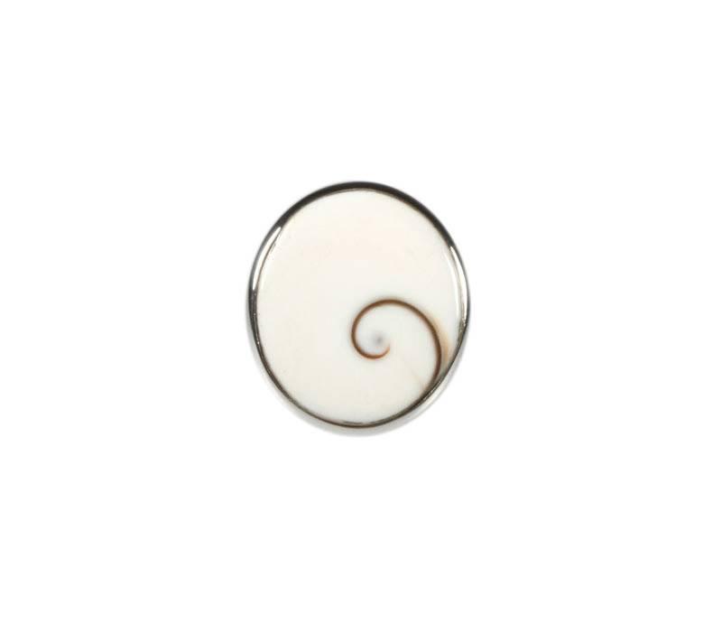 Zilveren ring Shiva oog maat 17 3/4 | ovaal 2,2 x 1,9