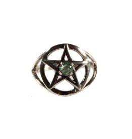 Zilveren ring serafiniet maat 17 1/2 | pentagram